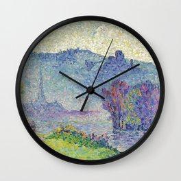"Henri-Edmond Cross ""Les Andelys, Château Gaillard, Seine"" Wall Clock"
