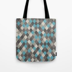 Harlequin Grey Tote Bag