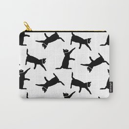 Cats on White Carry-All Pouch