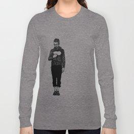 Open Chest Long Sleeve T-shirt