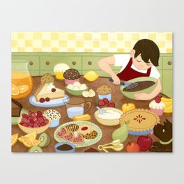 In the Kitchen Canvas Print
