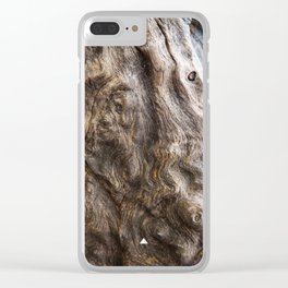 WOOD SKIN Clear iPhone Case