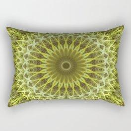 Golden, yellow and green mandala Rectangular Pillow