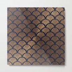 Art Deco Shell Pattern Metal Print