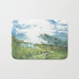 Summer by a lake Bath Mat
