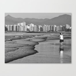 color of loneliness Canvas Print