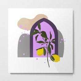 THE LEMON TREE, Botanical Wall Art Set, Abstract Print, Boho Print, Botanical Print, Tree Prints Metal Print