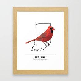 Indiana – Northern Cardinal Framed Art Print