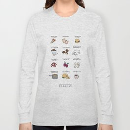 Foods of Gilmore Girls Long Sleeve T-shirt