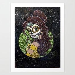 Sugar Skull Belle Art Print