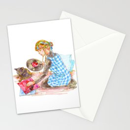 A girl with a kitten vol.2 Stationery Cards