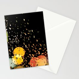Windshield wipers, slappin' out of tempo, keepin' perfect rhythm with the song on the radio-oo-oo Stationery Cards