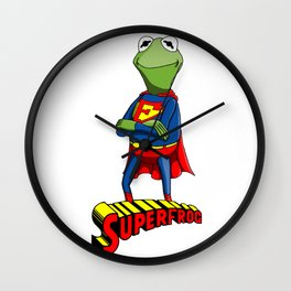 Kermit the Superman Wall Clock