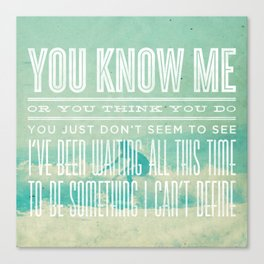 The Format - The First Single (You Know Me) Canvas Print
