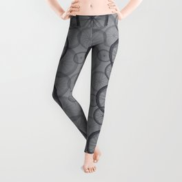 Bicycle 06 Tire Pattern Mono Graphic Leggings