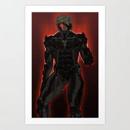 UNPLUG - Red Art Print