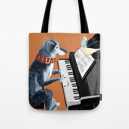 Piano lesson ( Doggy Art ) Tote Bag