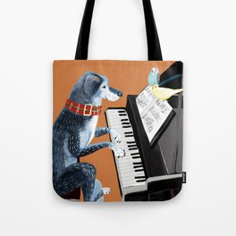 Piano lesson ( Doggy Art ) Tote Bag