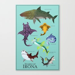 Sharks of Irona full poster Canvas Print