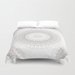 Pastel Gray Mandala 2 Duvet Cover