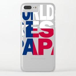 Worlds Best Papa Design and Texas Design Papa Design Texas Flag shirt Clear iPhone Case