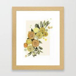 When Life Gives You Lemons (And Oranges) Framed Art Print