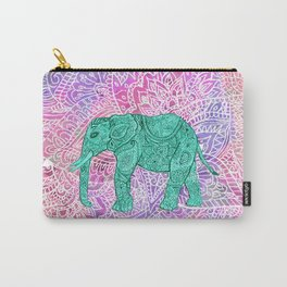 Elephant in Paisley Dream Carry-All Pouch