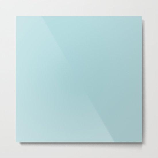 Simply Pretty Blue Metal Print