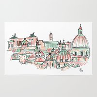 rome Area & Throw Rugs featuring Rome by Ursula Rodgers