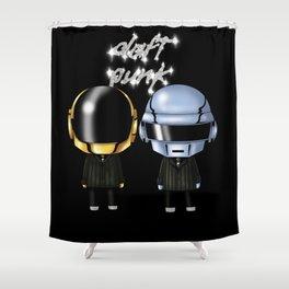 Daft Robots Shower Curtain