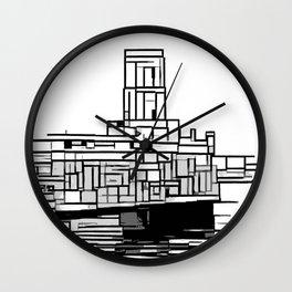 Tower at the sea Wall Clock