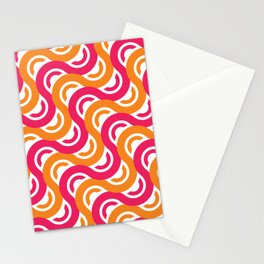 refresh curves and waves geometric pattern Stationery Cards