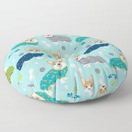 Corgi pajamas welsh corgi in pjs pattern print cute dog gifts custom dog portrait Floor Pillow