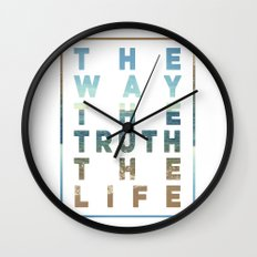 The Way; The Truth; The Life Wall Clock