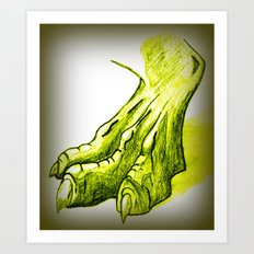 Dragon's Claw Art Print