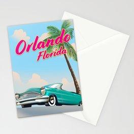 Orlando Florida Vintage style travel poster Stationery Cards