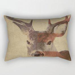 Patriotic Deer Rectangular Pillow