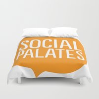logo Duvet Covers featuring LOGO by Social Palates Photography
