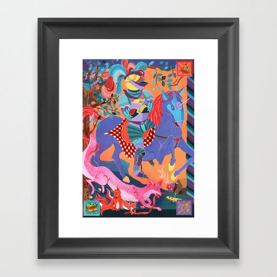 Picnic Knight Framed Art Print