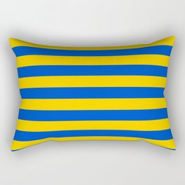 Asturias Sweden Ukraine European Union flag stripes Rectangular Pillow
