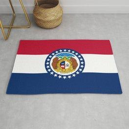 Missouri State Flag Rug