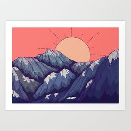 An early morning view Art Print