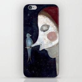 bird visit iPhone Skin