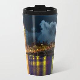 London Night Skyline Travel Mug