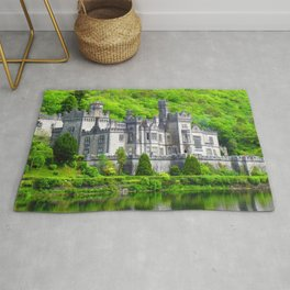 Fascinatingly Beautiful Romantic Kylemore Abbey Connemara County Galway Ireland Europe Rug