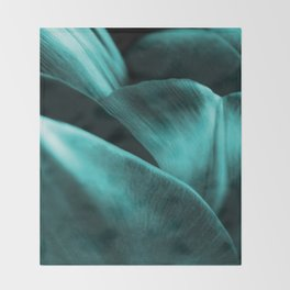 Green Succulent Leaves #decor #society6 #homedecor Throw Blanket