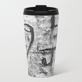 Love messages carved in the tree in Lover's Lane, Green Gables Travel Mug