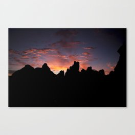 Moab Sunrise, Arches National Park, Utah Canvas Print