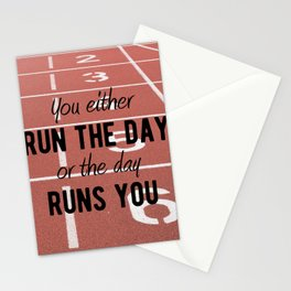 Motivational - Run Your Day - Motivation Stationery Cards