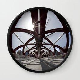 Calgary Peace Bridge; great Architecture Wall Clock